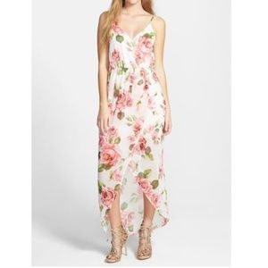 Nordstrom Lush Floral / Rose Maxi Dress - XS